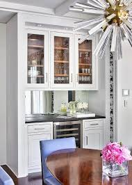Bar Cabinet With Wine Cooler Small Bar With Under Cabinet Wine Glass Rack Transitional Kitchen