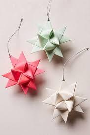german paper origami ornament sculpture 3 inch vintage