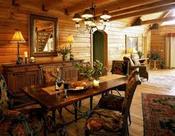 Log Cabin Dining Room Furniture Creative Log Cabin Dining Rooms Using Rectangular Wooden Tables