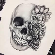 skull flower thigh best home decorating ideas