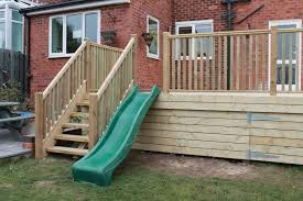 Dream Decks by Raised Decking With Childrens Slide Play Area Completed In