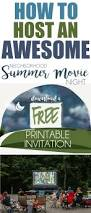 host a neighborhood outdoor movie night free printable