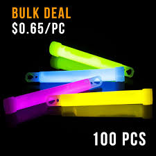 glow sticks in bulk stick 6inch 100pcs ctn bulk mixed