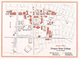 Campus Map Oregon State by Special Collections U0026 Archives Research Center Osc Campus Map 1960