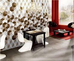 three dimensional orange hexagon ceramic floor tile for floor