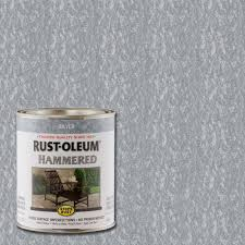 rust oleum stops rust 1 qt silver hammered rust preventive