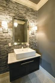 bathroom accent wall ideas for the half bathroom united tile falling water mosaic
