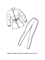 leather boot summer clothes coloring pages winter
