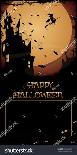 halloween haunted house night full moonhaunted stock vector