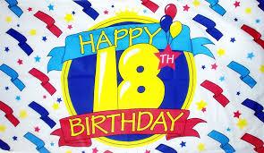 happy 18th birthday 5 x 3 flag