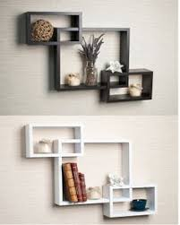 Wall Shelves Decor by New Set Of 3 White U0026 Black Square Floating Cube Wall Storage