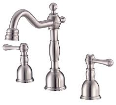 decor brushed nickel danze kitchen faucet with single handle for
