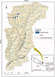 Nepal India Map by Location Map Of Sun Koshi River Basin Nepal Figure 1 Of 6