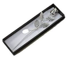 silver roses silver plated stem silver engraved silver