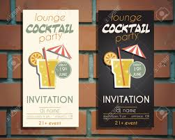 lounge cocktail party flyer invitation template with driver