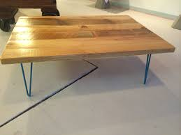 hairpin leg coffee table with reclaimed wood top industrial pine