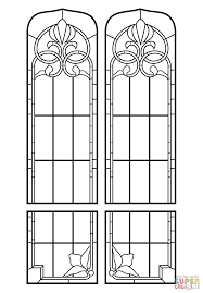stained glass windows coloring page free printable coloring pages