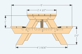 Diy Wood Picnic Table by Brilliant Diy Building Plans For A Picnic Table Wooden Picnic