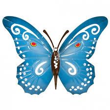 blue butterfly garden wall art poundstretcher
