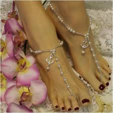 barefoot sandals wedding anchor amour barefoot sandals anchor foot jewelry anchor