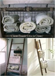 Ladder Shelf For Bathroom 40 Wooden Ladder Repurposing Ideas That Add Farmhouse Charm To