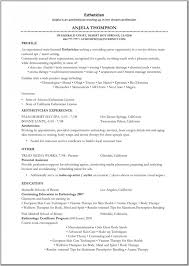 Sample Massage Therapist Resume by Esthetician Resume Samples Intended For Esthetician Resume Samples