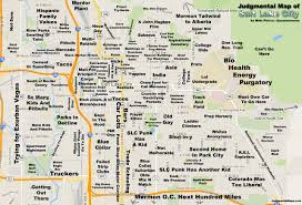 Map Of Utah by Judgemental Map Of Slc Haha I Used To Like In