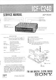 sony clock radio manual sony icfc240 service manual immediate download