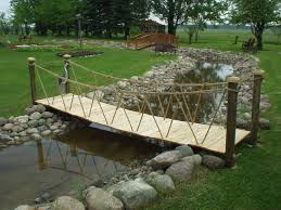 yard bridge garden bridges 4 52ft long elegant wooden landscape garden bridge