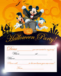 disney halloween party invitation card printable best gift ideas