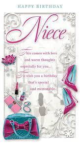 niece birthday cards niece birthday card happy birthday make up bag flower high