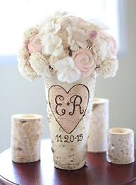 Rustic Vases For Weddings Amazon Com Personalized Birch Vase Rustic Custom Wedding Bridal