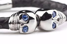 mens skull bracelet images Mens skull bracelets mens python jewelry autobahnlife jewelry jpg