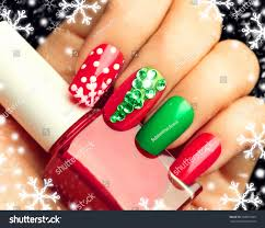 christmas nail art manicure winter holiday stock photo 339651305