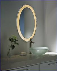 Backlit Bathroom Mirror by Backlit Bathroom Mirrors Nz Pebble Grey Round Led Illuminated