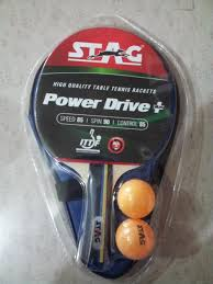 quality table tennis bats stag power drive plus table tennis bat with 2 balls buy online