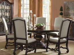 kitchen round kitchen table and chairs set and 6 fancy white