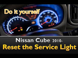 service engine light on nissan nissan cube service indicator reset guide 2 simple steps youtube