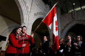 Canada Flag Bearer Ice Dancers Tessa Virtue Scott Moir To Carry Canada U0027s Flag At