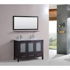 48 inch freestanding double espresso wood bathroom vanity include