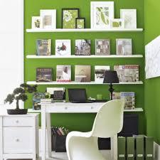 best tidy white floating bookshelves on green wall inside open