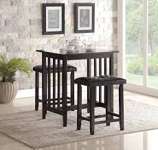 amazon com roundhill furniture 3 piece counter height dining set
