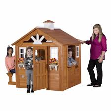 cedar playhouse for kids cottage outdoor backyard outside garden