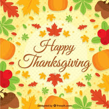 happy thanksgiving background with autumn leaves vector premium