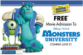 reminder free ticket monsters university purchase