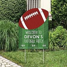 football party decorations end zone football birthday party theme bigdotofhappiness