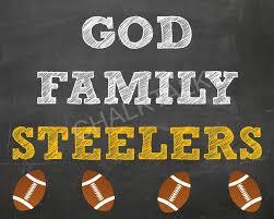 god family football chalkboard steelers chalkboard browns