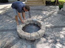 Patio With Firepit How To Build A Firepit Diy Design Hometalk