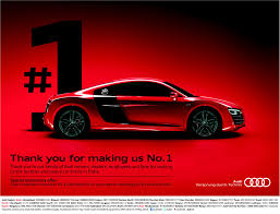 audi r8 ads audi is thankful for becoming the top luxury car brand in india