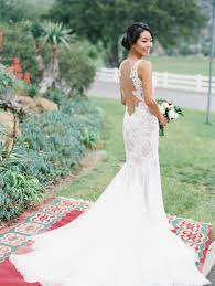 outdoor wedding dresses backless wedding dresses 17 real brides in swoon worthy backless